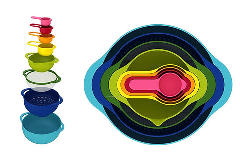 8 Piece Multi-Color Nesting Food Prep Set