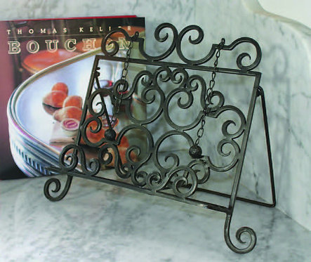 Tuscan Metalwork Cookbook Stand