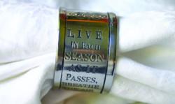 """Live in each season"" Napkin Rings"