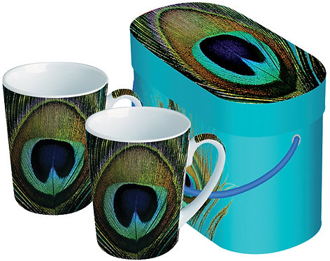 Paperproducts Design Paradise Peacock Mugs