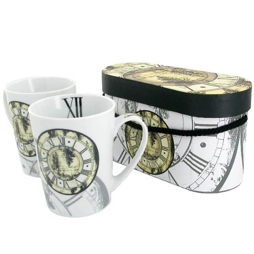 Coffee/Tea Mugs, Time Piece (set of 2)