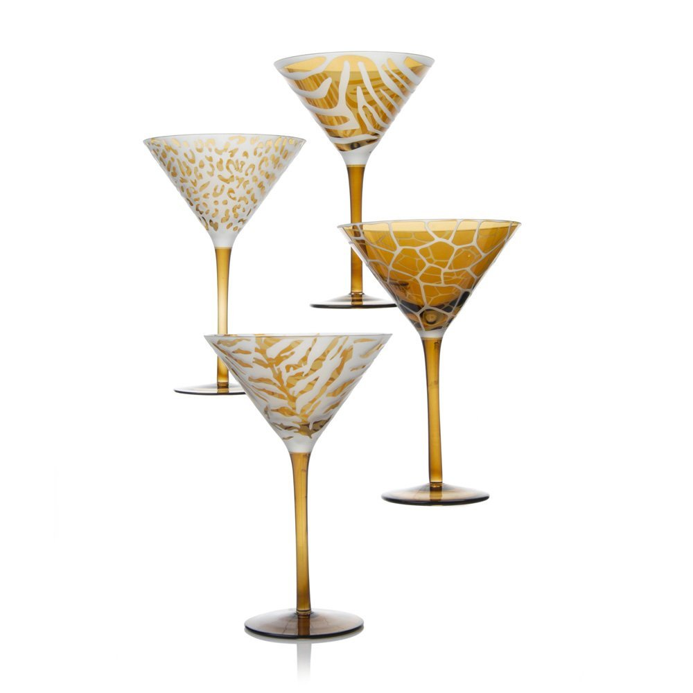 Wildlife Collection Martini Glasses