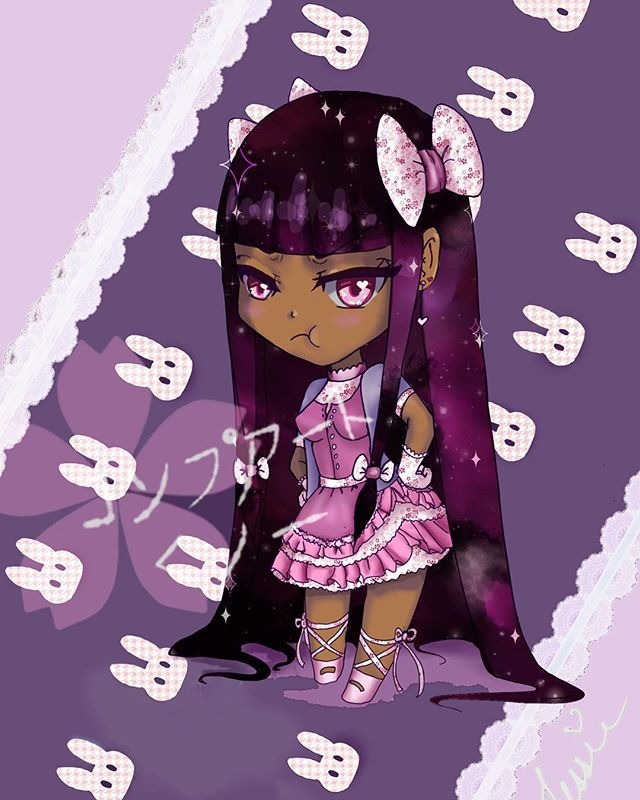 ✨✨✨ #anime #animeart #animegirls #animeartist #blackart #blackanime #blackanimegirl #chibi #chibiart