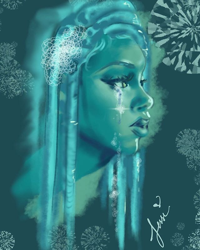 App_ ibisPaint and iMovie_30 mins _Song_ The Crying Game x Nicki Minaj _#abstractart #abstractpainti
