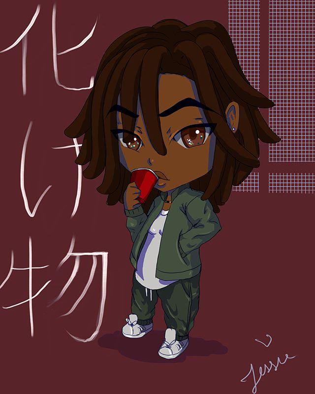 化け物__Email me for commissions 😍✨ #compartkunoichi #blackartist #blackart #artistsoninstagram #art #