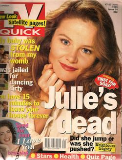 Julie's fallen off the tower