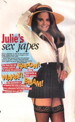 Julie's getting up to mischielf