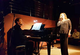 Philip Foster on piano at The Pheasantry