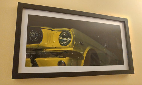 Framed 1966 Mustang photo (panoramic)