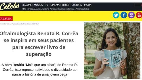 Oftalmologista Renata R. Corrêa se inspira em seus pacientes para escrever livro de superação