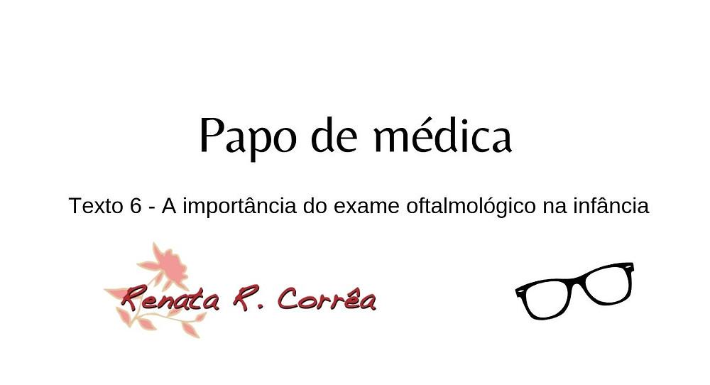 exame oftalmológico na infância