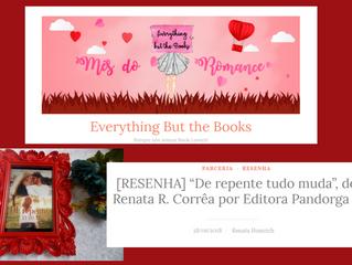 """[RESENHA] """"De repente tudo muda"""", de Renata R. Corrêa por Editora Pandorga"""