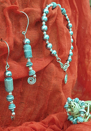 VM101 סט של שרשרת, עגילים  וטבעת