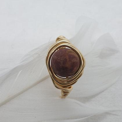 טבעת עם אבן טבעית VM351