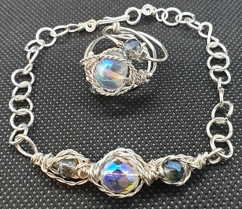 VM279 סט צמיד וטבעת