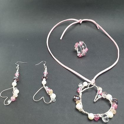 VM236 סט שרשרת, טבעת ועגילים