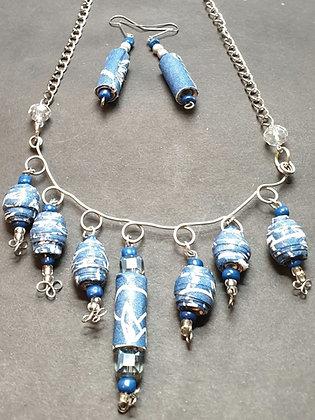 VM137 סט שרשרת, צמיד, טבעת ועגילים