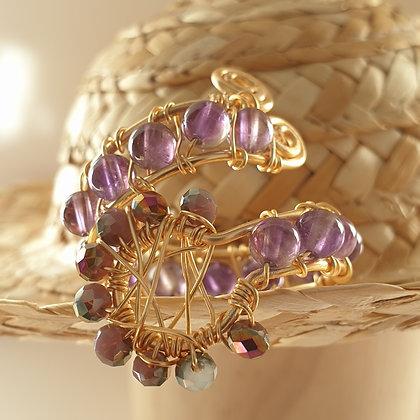 טבעת  עם קריסטלים VM391