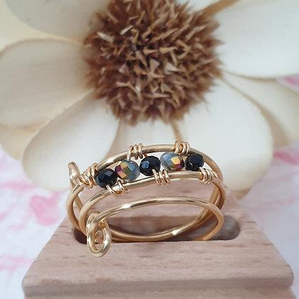 טבעת אבנים קריסטל  VM293
