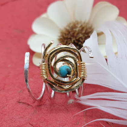 טבעת  עם אבן טבעית  VM344