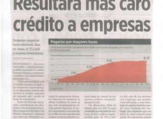 Prevén que encarezca crédito empresarial