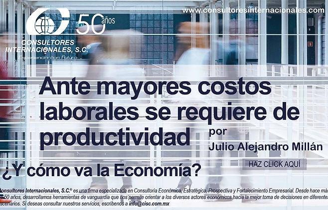 210727 CISC. PORTADA2AI_53 Y cómo va la Economía- Ante mayores costos laborales productivi