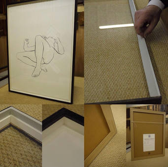 framing a drawing within a box frame