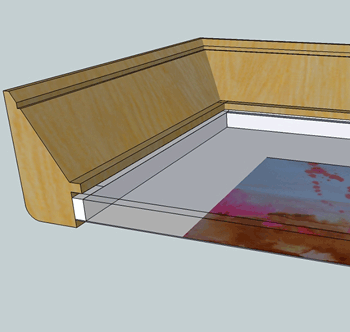 sketchup of frame detail
