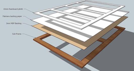 sketch up design for sub frame and plint