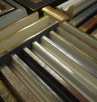 Gilded tray frame samples