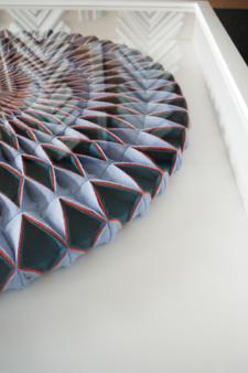 flaoting artwork within deep box frame