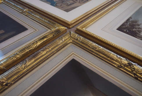 french style mats within gilded frames