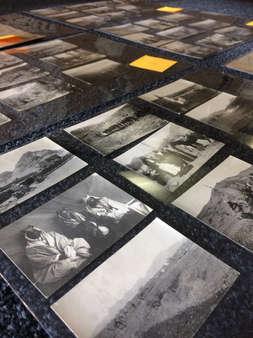 photographs held in mylar sleves