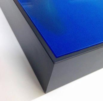 Acrylic reverse in a tray farme