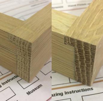 oak butt joint details