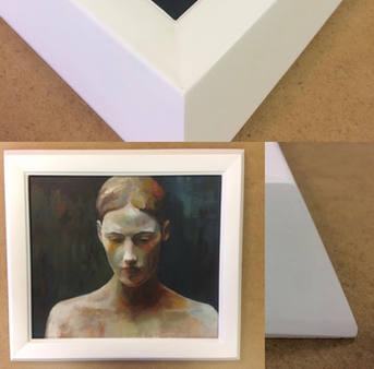protrait  in gesso frame