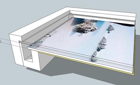 floating artwork design