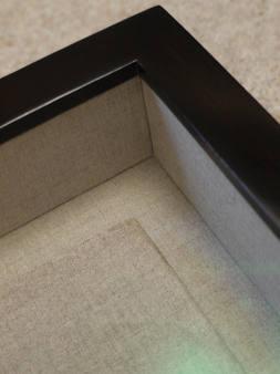 linen interior box frame