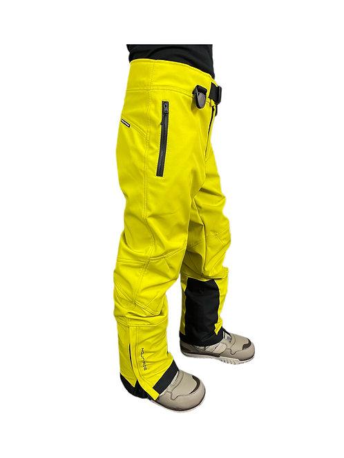 Брюки горнолыжные мужские лимонные (софтшел)