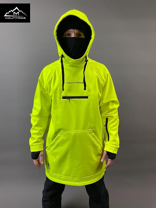 Худи Mountride неоново-желтый (софт)