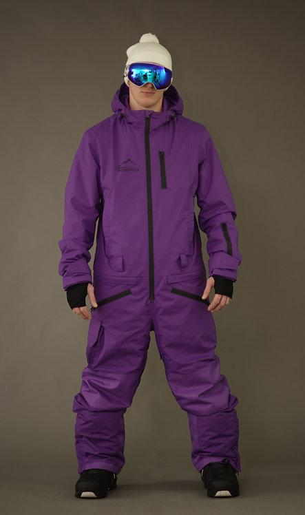 Комбинезон Mountride (ультрафиолетовый)  black zip