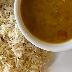 Rice & Curried Lentils