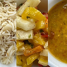 Rice, Lentils & Salad