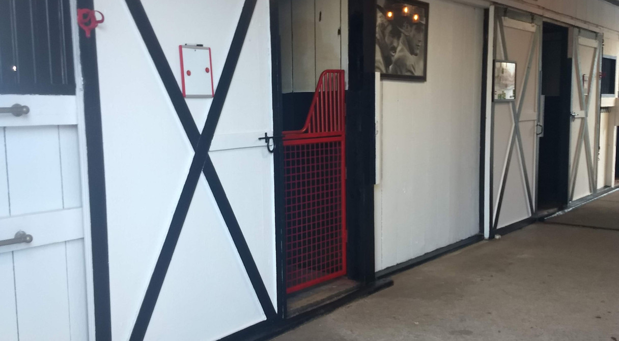Love our red gates...