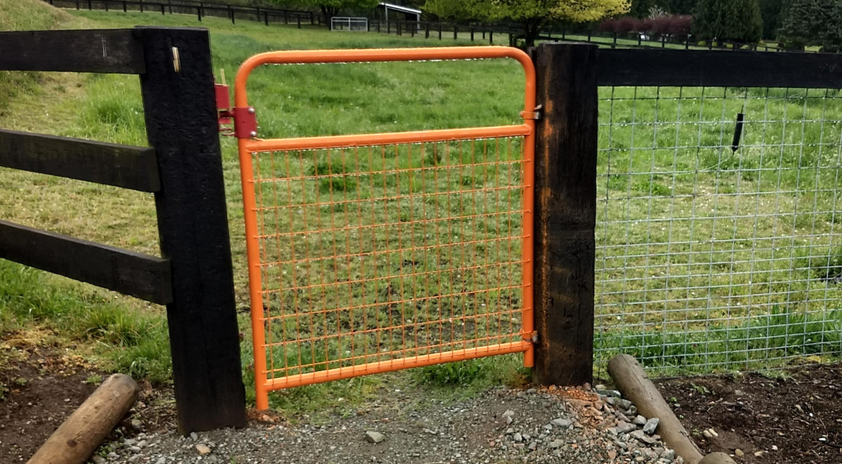 All gates are color coated to a specific pasture for quick identification.