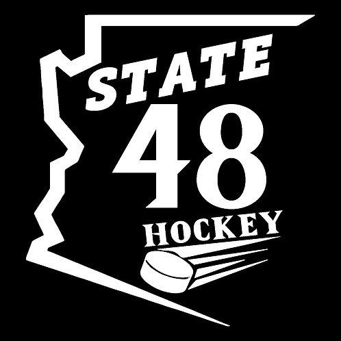 State 48 Hockey Car Decal