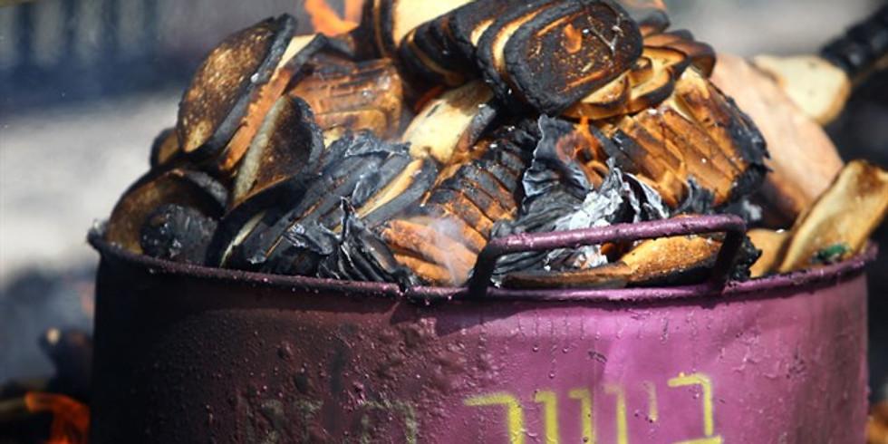 Erev Pesach Chametz Burning
