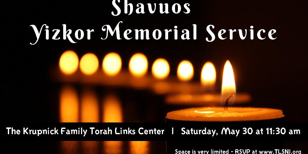 Yizkor Memorial Service