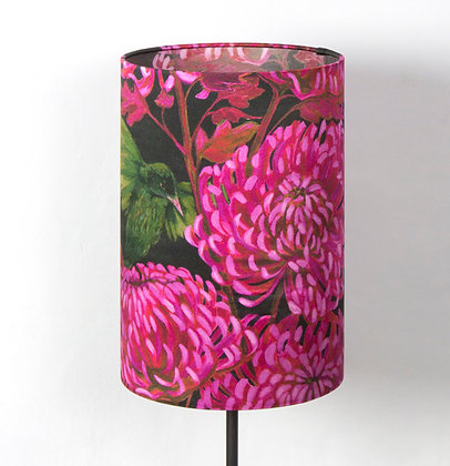 Chrysanths Nuit - Cerise - Silk Shade - £85