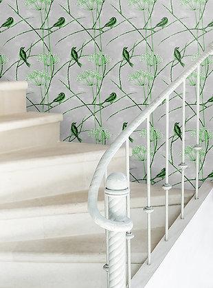 Little Finches - English Apple - Wallpaper - £99 per roll